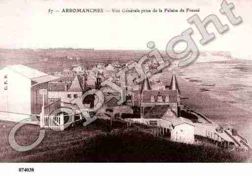 Ville de ARROMANCHESLESBAINS, carte postale ancienne