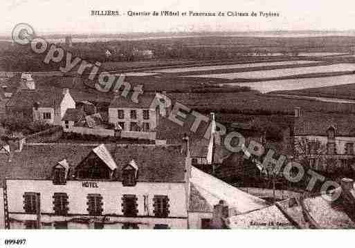 Ville de BILLIERS, carte postale ancienne