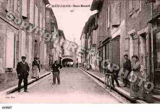 Ville de DAMAZAN, carte postale ancienne