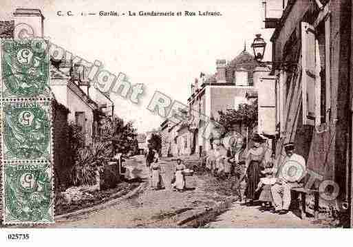 Ville de GARLIN, carte postale ancienne