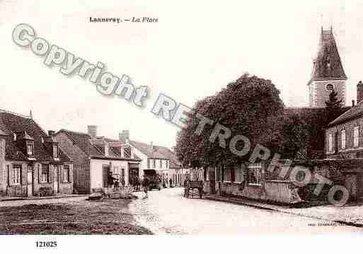 Ville de LANNERAY, carte postale ancienne