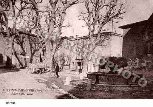 Ville de SAINTZACHARIE, carte postale ancienne