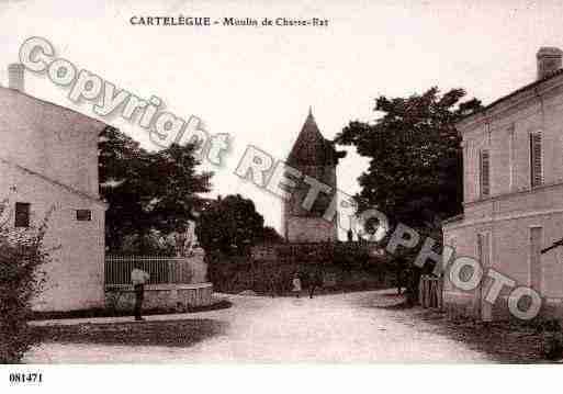 Ville de CARTELEGUE, carte postale ancienne