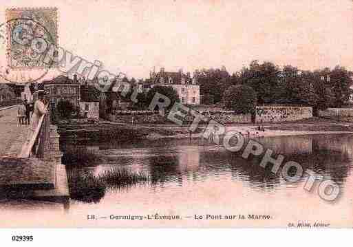 Ville de GERMIGNYL'EVEQUE, carte postale ancienne