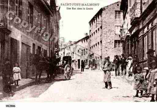 Ville de SAINTJUSTMALMONT, carte postale ancienne
