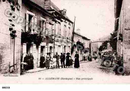 Ville de ALLEMANS, carte postale ancienne