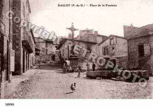 Ville de DALLET, carte postale ancienne