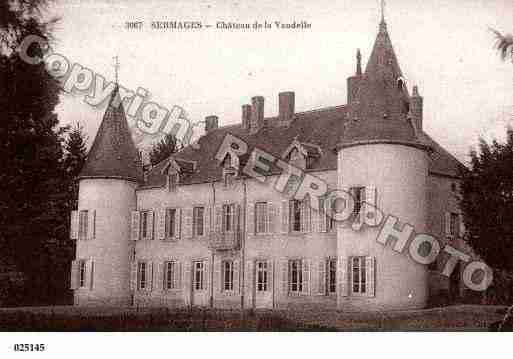 Ville de SERMAGES, carte postale ancienne
