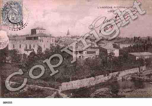 Villes et villages en cartes postales anciennes .. - Page 4 Photos-carte-uzer-ardeche-PH009402-B