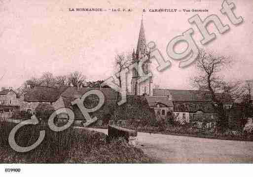Ville de CARANTILLY, carte postale ancienne