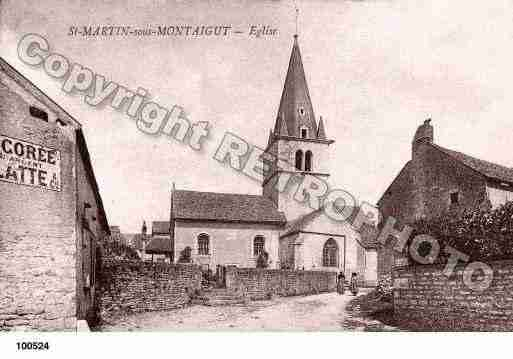 Ville de SAINTMARTINSOUSMONTAIGUT, carte postale ancienne
