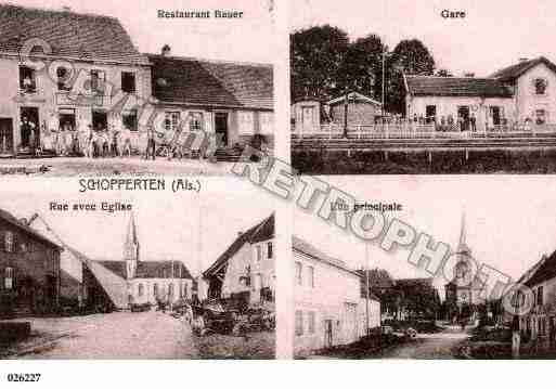 Ville de SCHOPPERTEN, carte postale ancienne