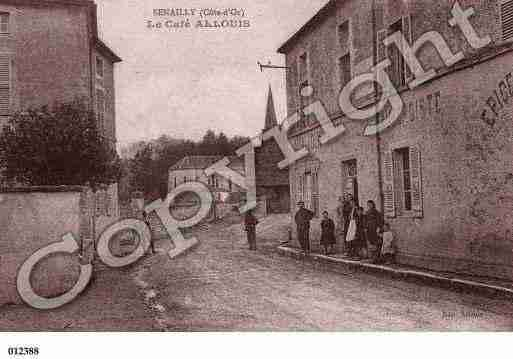 Ville de SENAILLY, carte postale ancienne