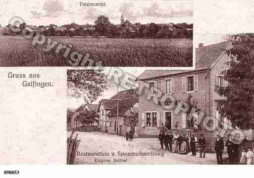 Ville de GALFINGUE, carte postale ancienne