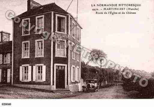 Ville de MARTINVAST, carte postale ancienne