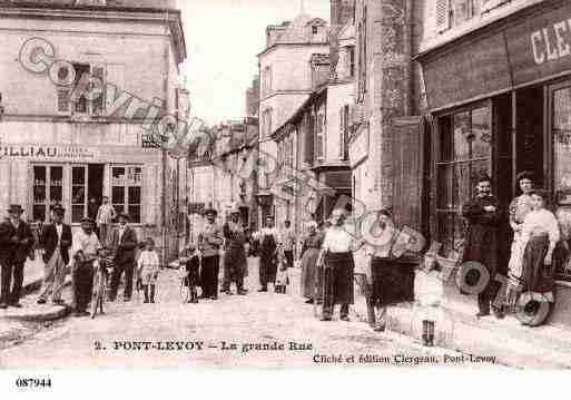 Ville de PONTLEVOY, carte postale ancienne