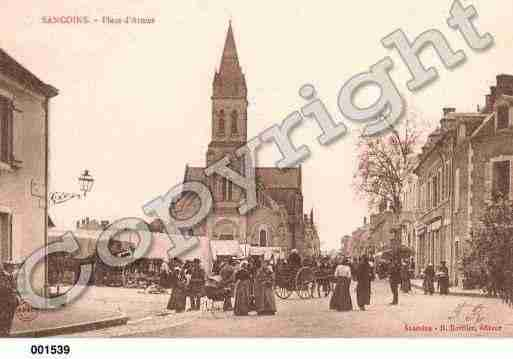 Ville de SANCOINS, carte postale ancienne