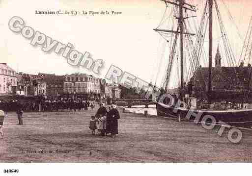 Ville de LANNION, carte postale ancienne