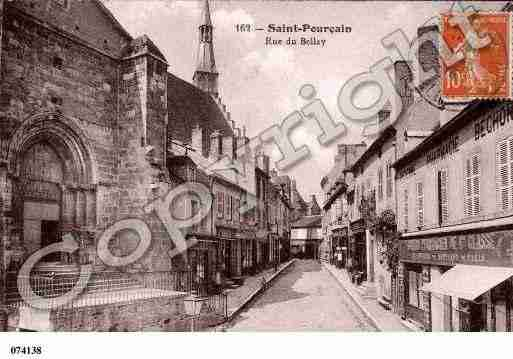 Ville de SAINTPOURCAINSURSIOULE, carte postale ancienne