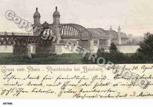 Ville de BEINHEIM, carte postale ancienne