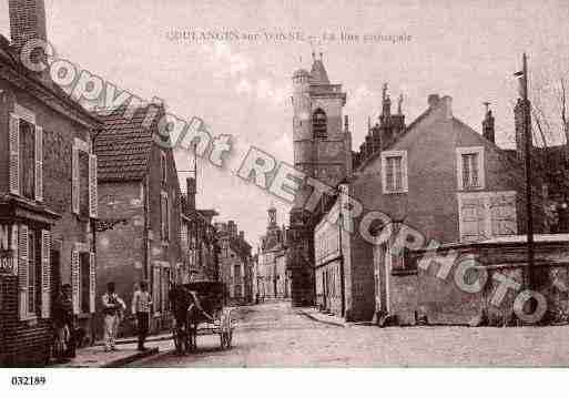 Ville de COULANGESSURYONNE, carte postale ancienne