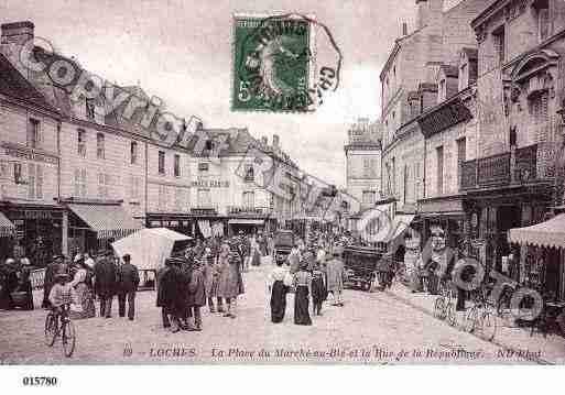 Carte postale ancienne de Loches