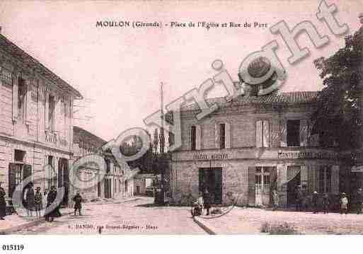 Ville de MOULON, carte postale ancienne