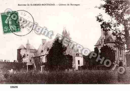 Ville de SAINTAMANDMONTROND, carte postale ancienne