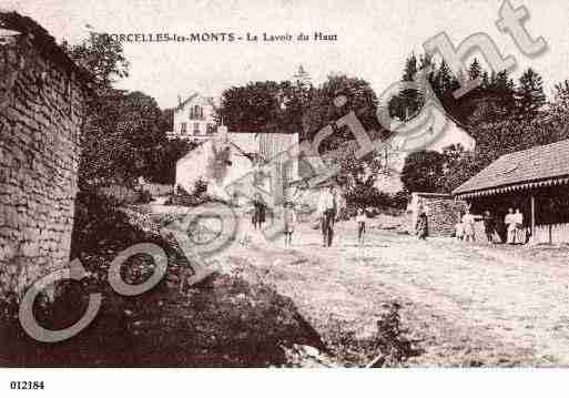 Ville de CORCELLESLESMONTS, carte postale ancienne