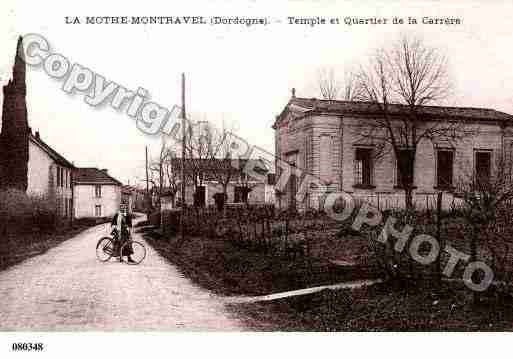 Ville de LAMOTHEMONTRAVEL, carte postale ancienne