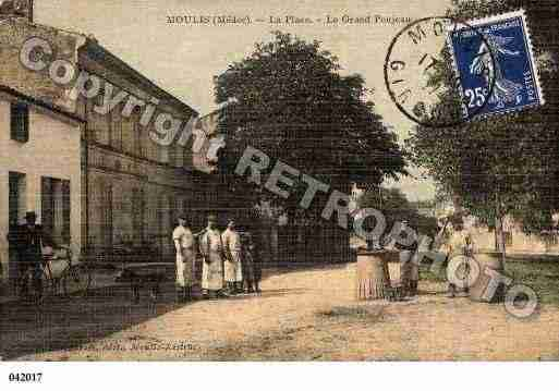 Ville de MOULISENMEDOC, carte postale ancienne