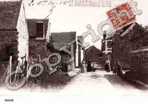 Ville de SAINTMARTINENBIERE, carte postale ancienne