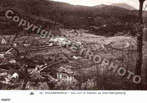 Ville de THANNENKIRCH, carte postale ancienne