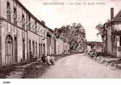 Ville de BELLECHAUME, carte postale ancienne