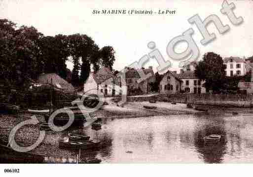 Ville de COMBRIT, carte postale ancienne