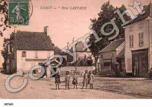 Ville de GERGY, carte postale ancienne