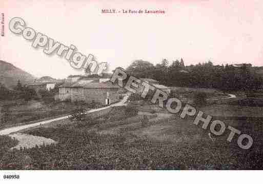 Ville de MILLYLAMARTINE, carte postale ancienne