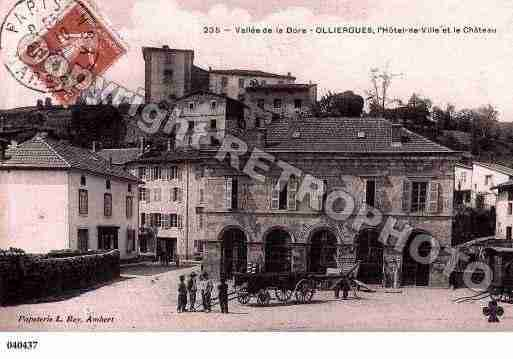 Ville de OLLIERGUES, carte postale ancienne