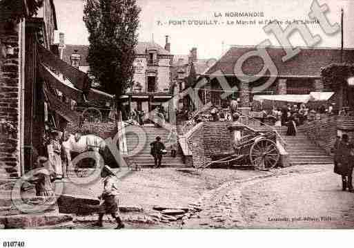 Ville de PONTD'OUILLY, carte postale ancienne