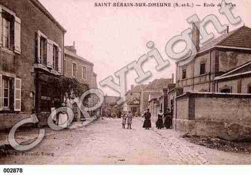 Ville de SAINTBERAINSURDHEUNE, carte postale ancienne