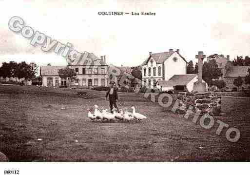 Ville de COLTINES, carte postale ancienne