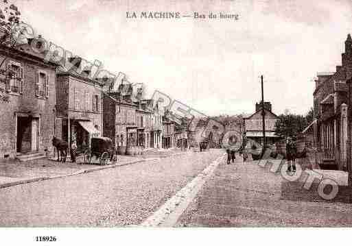 Ville de MACHINE(LA), carte postale ancienne