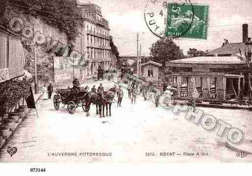 Ville de ROYAT, carte postale ancienne