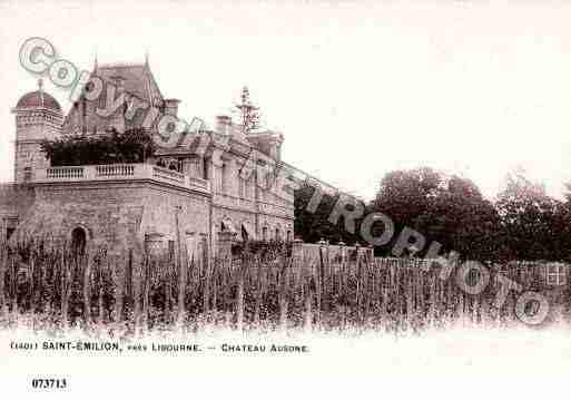 Ville de SAINTEMILION, carte postale ancienne