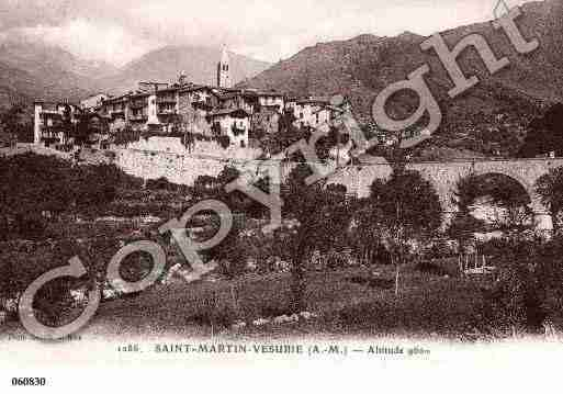 Ville de SAINTMARTINVESUBIE, carte postale ancienne