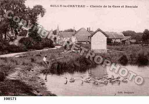 Ville de SULLY, carte postale ancienne