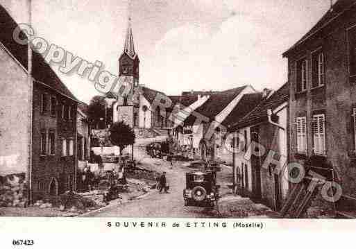 Villes et villages en cartes postales anciennes .. - Page 5 Photos-carte-etting-moselle-PH042510-D