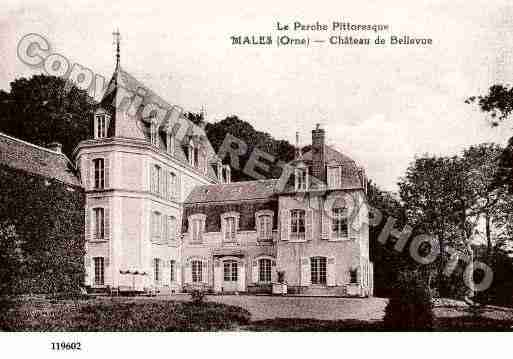 Ville de MALE, carte postale ancienne