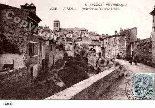 Ville de BILLOM, carte postale ancienne