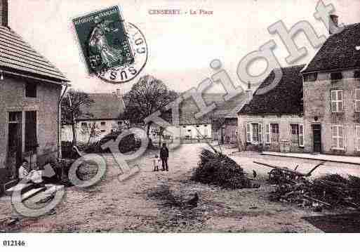 Ville de CENSEREY, carte postale ancienne